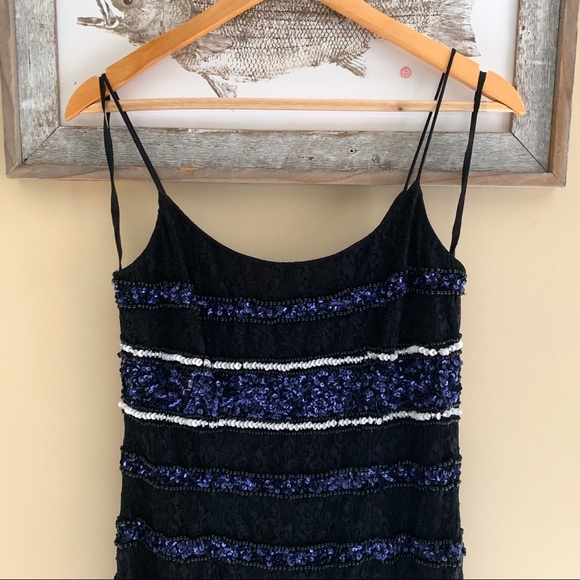 Adrianna Papell Dresses & Skirts - Adrianna Papell Sequined Lace Slip Dress *NWT*
